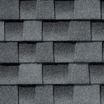 Close up photo of GAF's Timberline HD Oyster Gray shingle swatch